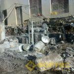 Алмазная канатная резка при демонтаже фундамента системой RSS-001