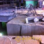 Алмазная канатная резка системой RSS-001 при демонтаже фундаментов турбогенераторов