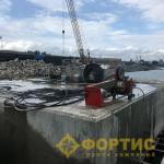Применение RSS-001 при разборке железобетонных конструкций пирсов временного причала в рамках строительства транспортного перехода через Керченский пролив. г. Керчь, республика Крым
